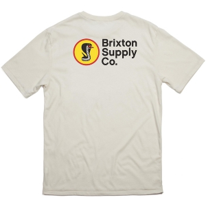 BRIXTON / FANG S/S STANDARD TEE (OFF WHITE)