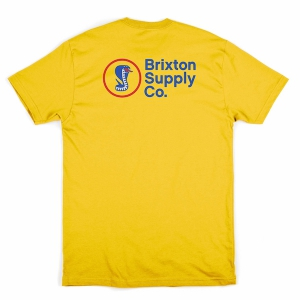 BRIXTON / FANG S/S STANDARD TEE (YELLOW)