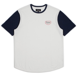 BRIXTON / NOVATO S/S KNIT (OFF WHITE/NAVY)