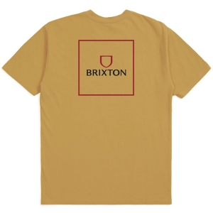 BRIXTON / ALPHA SQUARE STANDARD TEE (ANTIQUE GOLD)