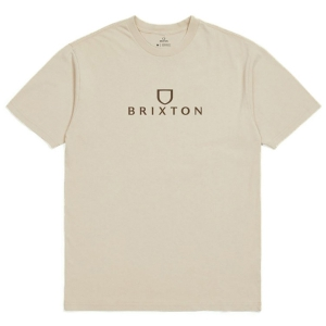BRIXTON / ALPHA THREAD STANDARD TEE (CREAM)