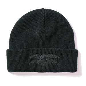 ANTIHERO / BASIC EAGLE CUFF BEANIE (BLACK/BLACK)
