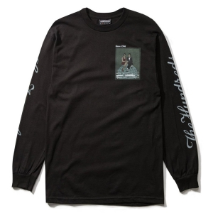 THE HUNDREDS / TOP OF THE WORLD L/S TEE (BLACK)