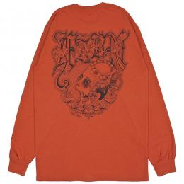 LZBN / KNUCKLE L/S TEE (DARK ORANGE)