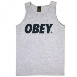 OBEY / OBEY FONT TANK TOP (H.GREY/NAVY)