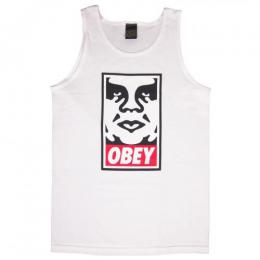 OBEY / OBEY ICON FACE TANK TOP (WHITE)