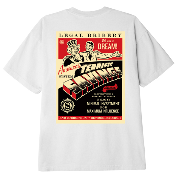 OBEY / AMERICA'S SAVINGS CLASSIC TEE (WHITE)