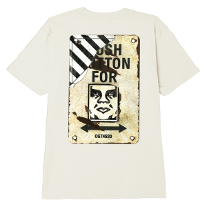 OBEY / CROSSWALK SIGN CLASSIC TEE (CREAM)