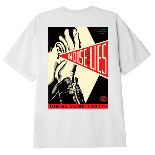 OBEY / GIMME SOME TRUTH CLASSIC TEE (WHITE)