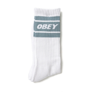 OBEY / COOPER II SOCKS (WHITE/GOOD GREY)