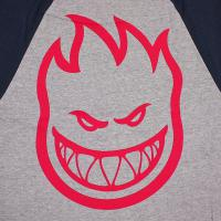 SPIT FIRE / BIGHEAD DOUBLE 3/4 TEE (ATHLETIC HEATHER/NAVY)