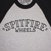 SPIT FIRE / LIFER ARC 3/4 TEE (ATHLETIC HEATHER/BLACK)