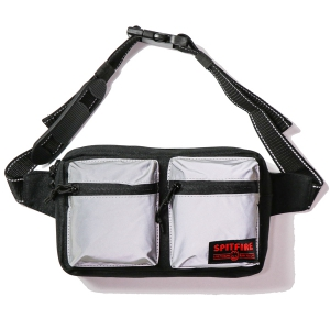 SPITFIRE / LIVE TO BURN CROSS BODY BAG (BLACK/HI-VIS REFLECTIVE)