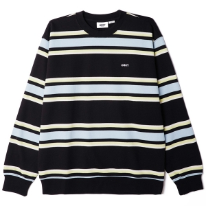 OBEY / JONES CREW SWEAT (BLACK MULTI)