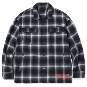 MSML / BALLOON CHECK SHIRTS (BLACK)