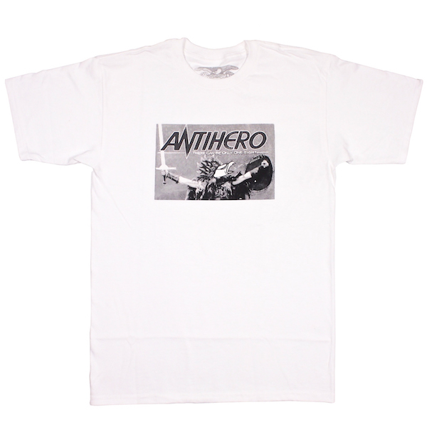 ANTI HERO / THERE CAN BE ONLY ONE EIGHT TEE (WHITE)