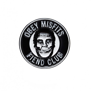 OBEY / MISFITS FIEND CLUB PIN BADGE (BLACK)