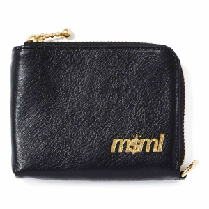 MSML / ZIP LEATHER WALLET (BLACK)