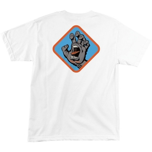 SANTA CRUZ / SCREAMING HAND BADGE TEE (WHITE)