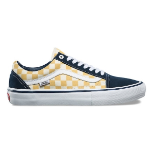"VANS / OLD SKOOL PRO (""CHECKERBOARD"" DRESS BLUES/OCHRE)"