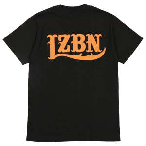 LZBN / LZBN BACK LOGO TEE (BLACK/DARK ORANGE)