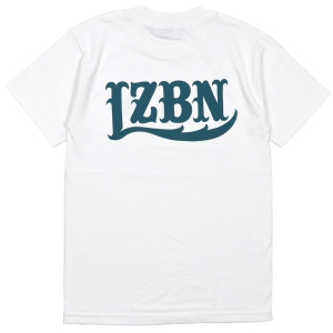 LZBN / LZBN BACK LOGO TEE (WHITE/DENIM)