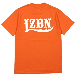 LZBN / LZBN BACK LOGO TEE (ORANGE/WHITE)