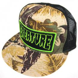 CREATURE / PATCH TRUCKER MESH CAP (CAMO/BLK)
