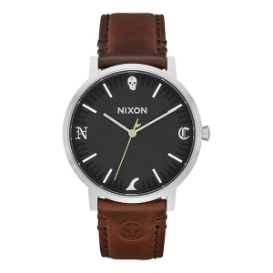 NIXON / THE PORTER LEATHER (BLACK/BROWN FIN)