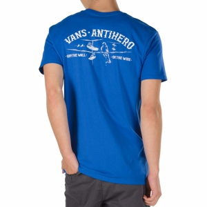 VANS / VANS X ANTI HERO ON THE WIRE TEE (ROYAL BLUE)