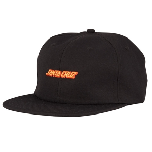 SANTA CRUZ / STRIP STRAPBACK CAP (BLACK/RED)