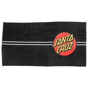 SANTA CRUZ / CLASSIC DOT TOWEL (BLACK)
