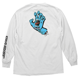 SANTA CRUZ / SCREAMING HAND L/S TEE (WHITE)