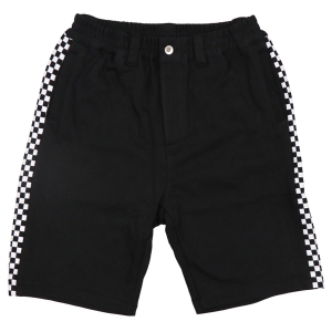 LZBN / CHECKER RIB SWEAT SHORT (BLACK)