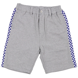 LZBN / CHECKER RIB SWEAT SHORT (GREY)