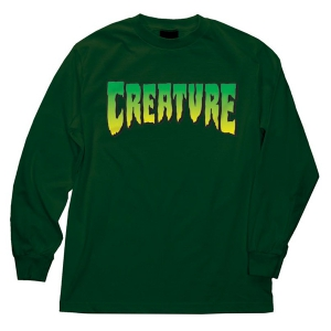 CREATURE / CREATURE LOGO L/S TEE (FOREST GREEN)