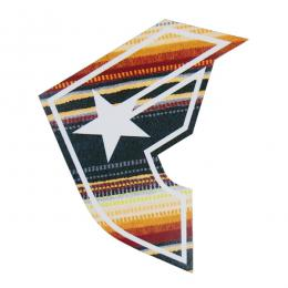 "FAMOUS STARS AND STRAPS / SERAPE STICKER (5"")"