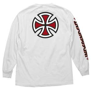 INDEPENDENT / BAR/CROSS L/S TEE (WHITE)
