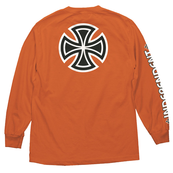 INDEPENDENT / BAR/CROSS L/S TEE (ORANGE)