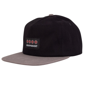 INDEPENDENT / MANNER STRAPBACK CAP (BLACK/CHARCOAL)