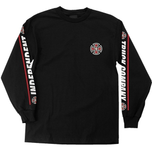 INDEPENDENT / SHEAR L/S TEE (BLACK)