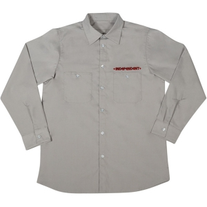 INDEPENDENT / GRINDSTONE L/S WORK SHIRT (GREY)