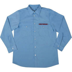 INDEPENDENT / GRINDSTONE L/S WORK SHIRT (BLUE)