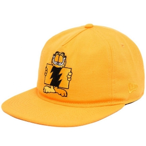 THE HUNDREDS / GARFIELD FLAG SNAPBACK CAP (ORANGE)