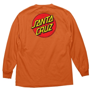 SANTA CRUZ / CLASSIC DOT L/S TEE (ORANGE)