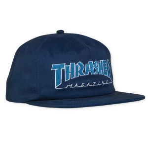 THRASHER / OUTLINED SNAPBACK CAP (NAVY/GREY)