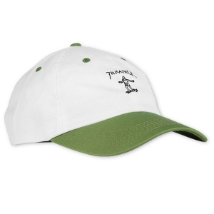 THRASHER / GONZ OLD TIMER HAT (WHITE/OLIVE)