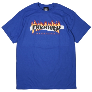 THRASHER / RIPPED TEE (ROYAL BLUE)