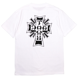 DOGTOWN / CROSS LOGO TEE (WHITE)