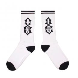 REBEL8 / LOGO SOCKS (WHITE)